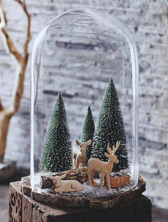 cloches en verre Christmas Christmas tree snow winter holiday holidays xmas deer love family family time gift presents xmasgifts xmaspresents christmasgifts christmaspresents new year 2018 glass hour glass stolp bambi decoration interior design