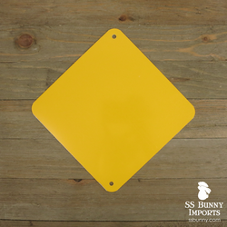 "Blank 6"" caution yellow square sign"