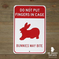 Bunnies May Bite sign