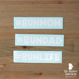 #BUNMOM hashtag decal
