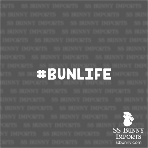 #BUNLIFE hashtag decal