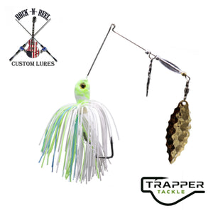 Rock-N-Reel Tournament-Series Spinner Bait Custom Trapper Tackle LLC 3/8oz white