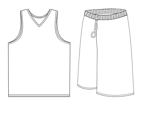 Basketball Jersey + Short Sublimated - Customizable Made in USA