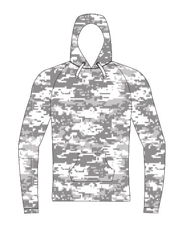 Camo Hunting Hoodie Sublimated - Customizable Made in USA