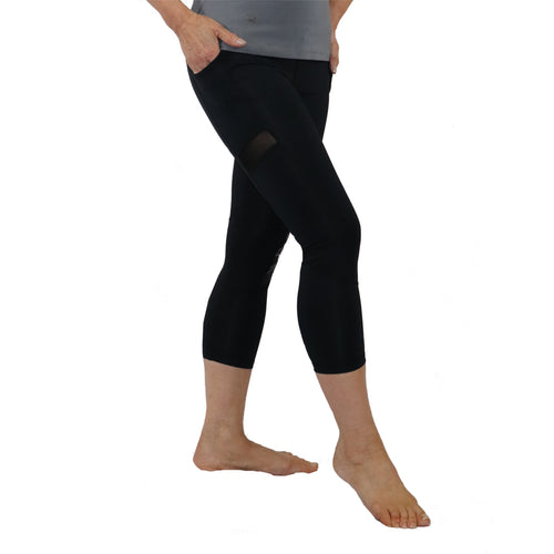 Polynesian Design tattoo yoga capri pants
