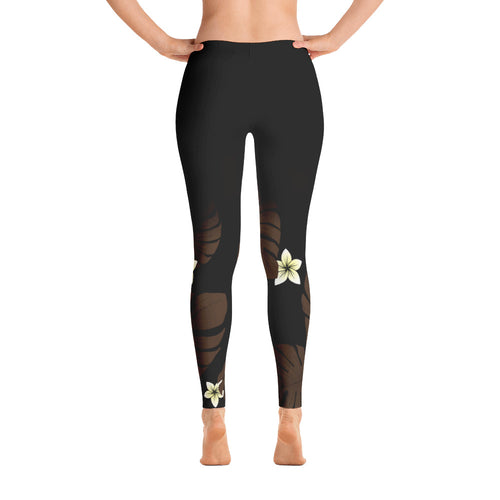Monstera Fern Polynesian Yoga Pants