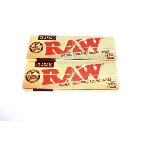 Weavs Supplies Raw Classic Rolling Papers 1 1/4 Size - 2 pack
