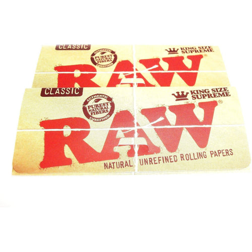 Weavs Supplies Raw Classic Rolling Papers King Size - 2 pack