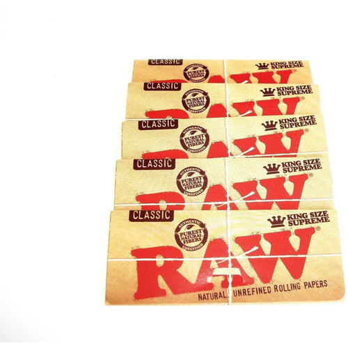 Weavs Supplies Raw Classic Rolling Papers King Size - 5 pack