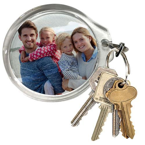 Large Round Photo Keyring