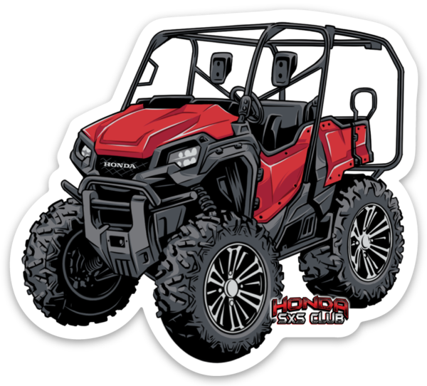 Honda Pioneer 1000-5 Red Sticker - Free Shipping!