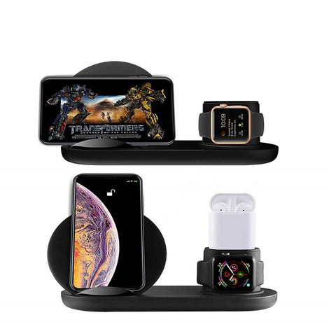 3 in 1 QI Wireless Charging Stand for iPhone Xs/X/Xs Max/8/7/Airpods/Apple Watch - urbehoof