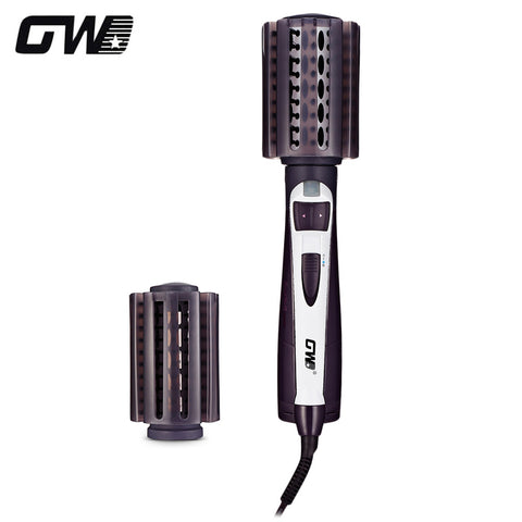GW - 6508 Hair Styling Tool Dryer Curler Electric 2 in 1 Rotating Hot Brush - urbehoof