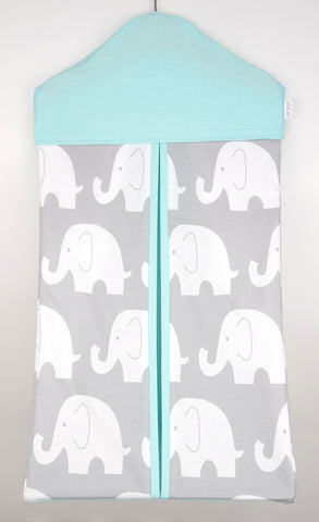 Nappy Stacker - Mint & Grey Elephant