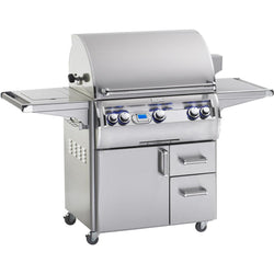 FireMagic Echelon Diamond E790s with Digital Thermometer & Flush Mounted Single Side Burner