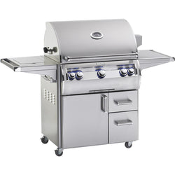 FireMagic Echelon Diamond E790s with Analog Thermometer & Flush Mounted Single Side Burner