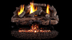 Charred Aged Split Gas Logs- Vent Free