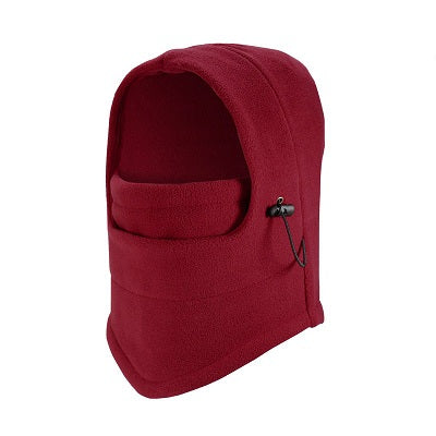Red Unisex Fleece Balaclava