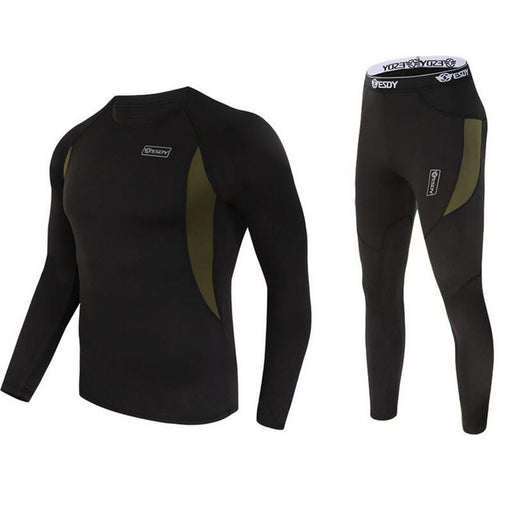 Quick-Dry Thermal Underwear Sets - black 2
