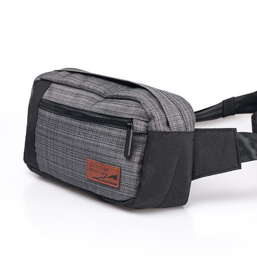 Black Water Repellent Waist Bag