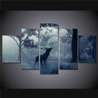 5 Pieces Deer Forest Canvas - It Make Your Day