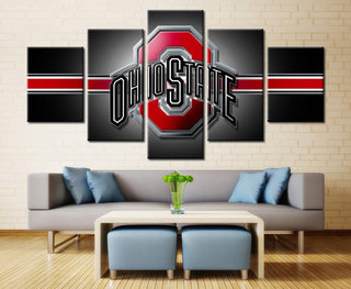 5 Piece Ohio State Buckeyes Football Canvas Paintings - It Make Your Day