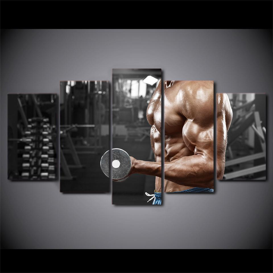 5 Piece Strong Muscles Canvas Wall Art Paintings - It Make Your Day