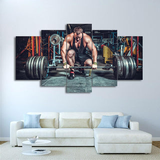 5 Piece Weightlifting Canvas Wall Art Paintings - It Make Your Day