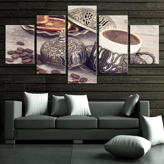 Framed 5 Piece Coffee Collection - Vintage Canvas - It Make Your Day