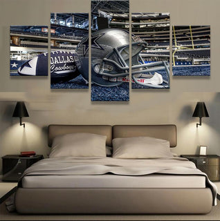 5 Piece Dallas Cowboys Stadium Canvas Paintings - It Make Your Day