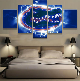 5 Piece Florida Gators Team American Football Canvas - It Make Your Day