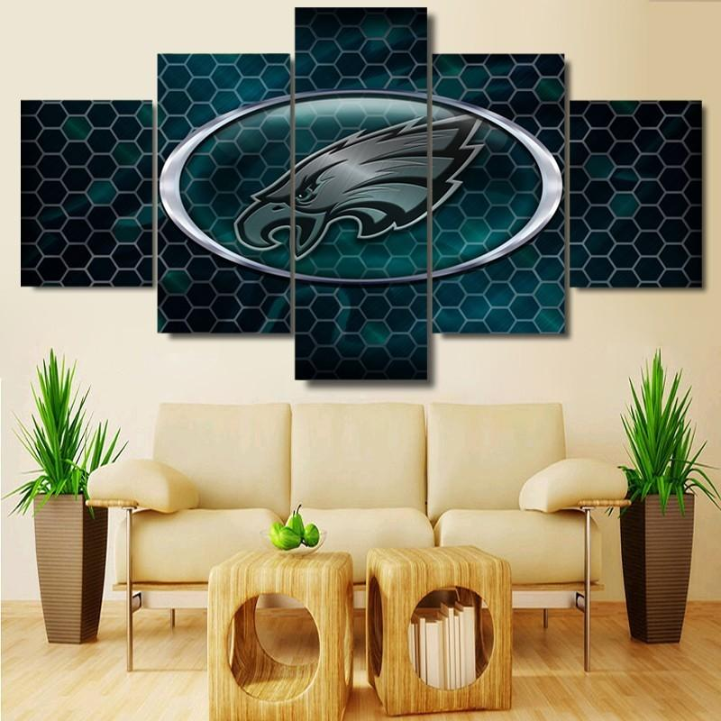 5 Pieces Philadelphia Eagle Logo Rugby Canvas - It Make Your Day