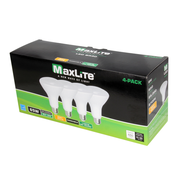 BR30 MaxLite® 8W Dimmable Daylight Indoor (4 Pack) image 27335045959