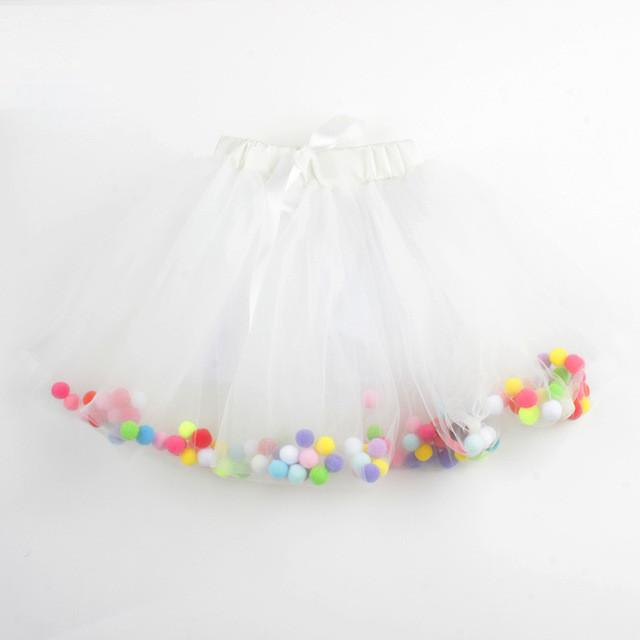 4 Layers Balls Girls Tutu Skirt Soft Mesh Lace Children Skirts Ins Hot Style Baby Tutu Skirt Wild Bottoming Princess Skirt - DealsBlast.com