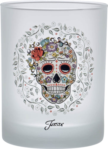 14 oz. Fiesta®SKULL AND VINE Sugar Frosted Double Old Fashion Glass - Set of 4
