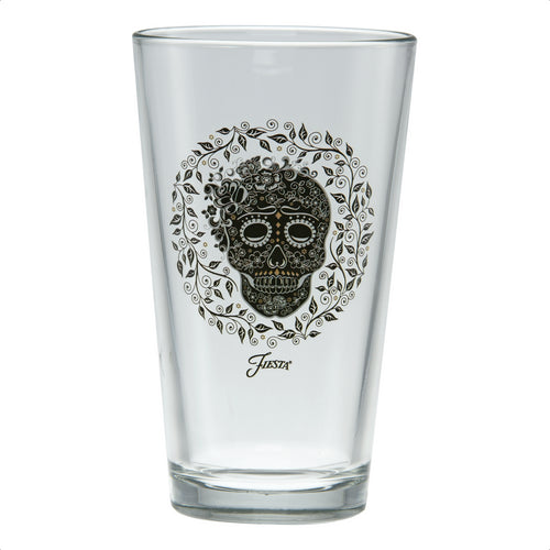 16 oz. Fiesta® SKULL AND VINE Clear Cooler – Set of 4