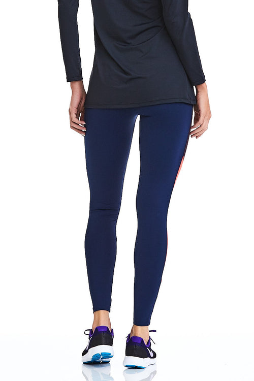 CajuBrasil USA Luxury Upscale Fitness Leggings ROCK NEW - Navy 9038