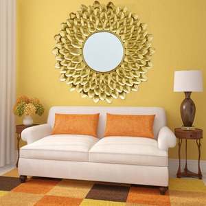 Leaf Design Wall Mirror