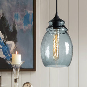 New Series Casamotion Recycle Blue Rustic Art Glass Pendant light