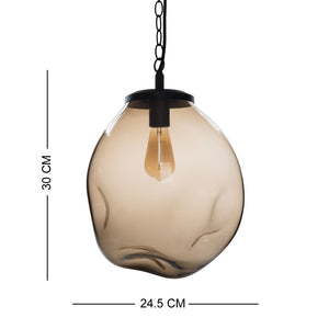 Small Design Edison Brown Hanging Glass Ceiling Lamp For House Decoration