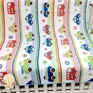 Car Cotton Quilted Bedspread/ Blanket For Kids
