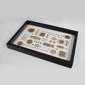 Dark Brown Spices Themed Serving Tray