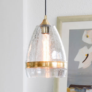 Hot Selling Casamotion Copper Clear Mouth Blown Glass Pendant Lighting For Home Decor