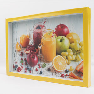 Large Yellow Frame Serving Tray