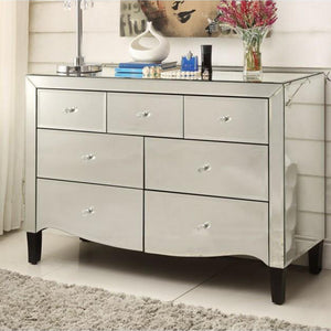 Mirrored Chest, Dressing Table - 7 Drawer