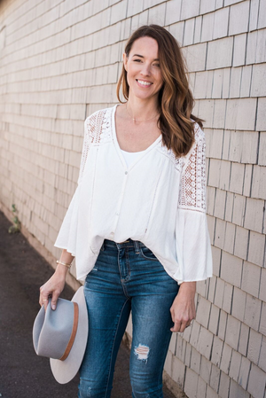 Laurel Button Down Lace Top