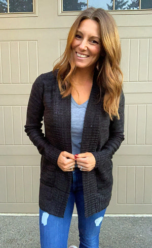 Sunday Morning Cardigan Black