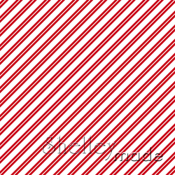 Christmas Coordinate - Candy Cane Stripe Reverse