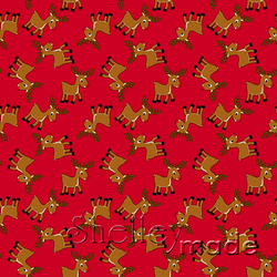 Christmas Coordinate - Reindeer Scattered Red