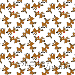Christmas Coordinate - Reindeer Scattered White
